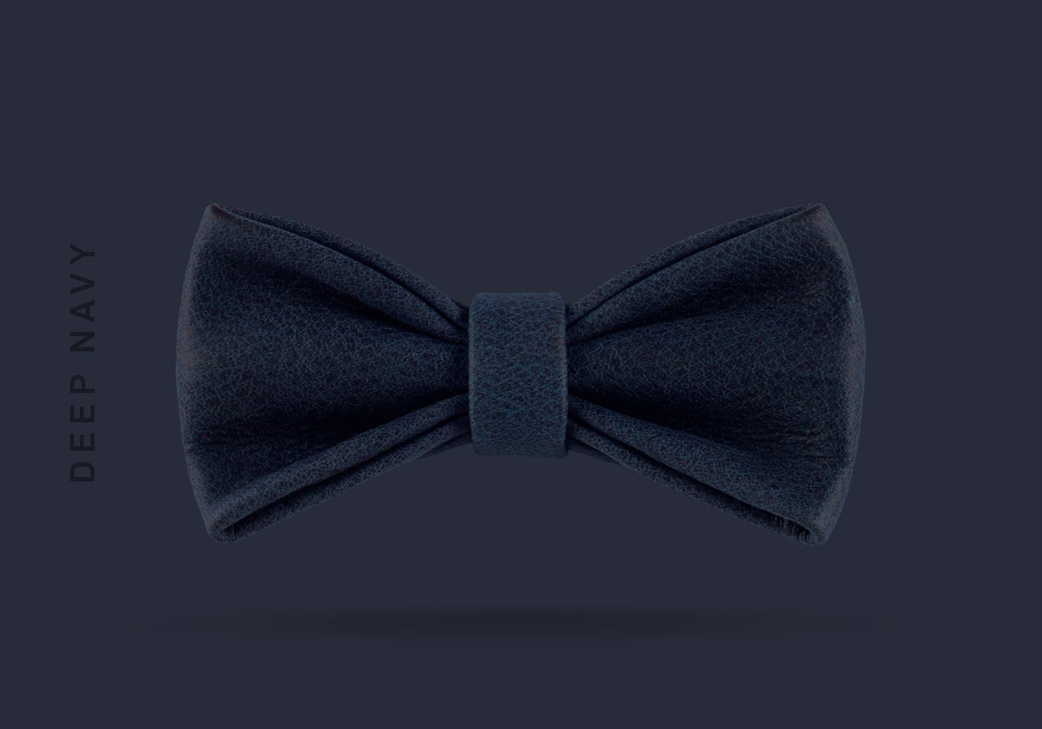 This deep navy WEEF handmade leather bow is a great present or gift idea for dapper and stylish gentlemen for fathers day, valentines day or Christmas.
