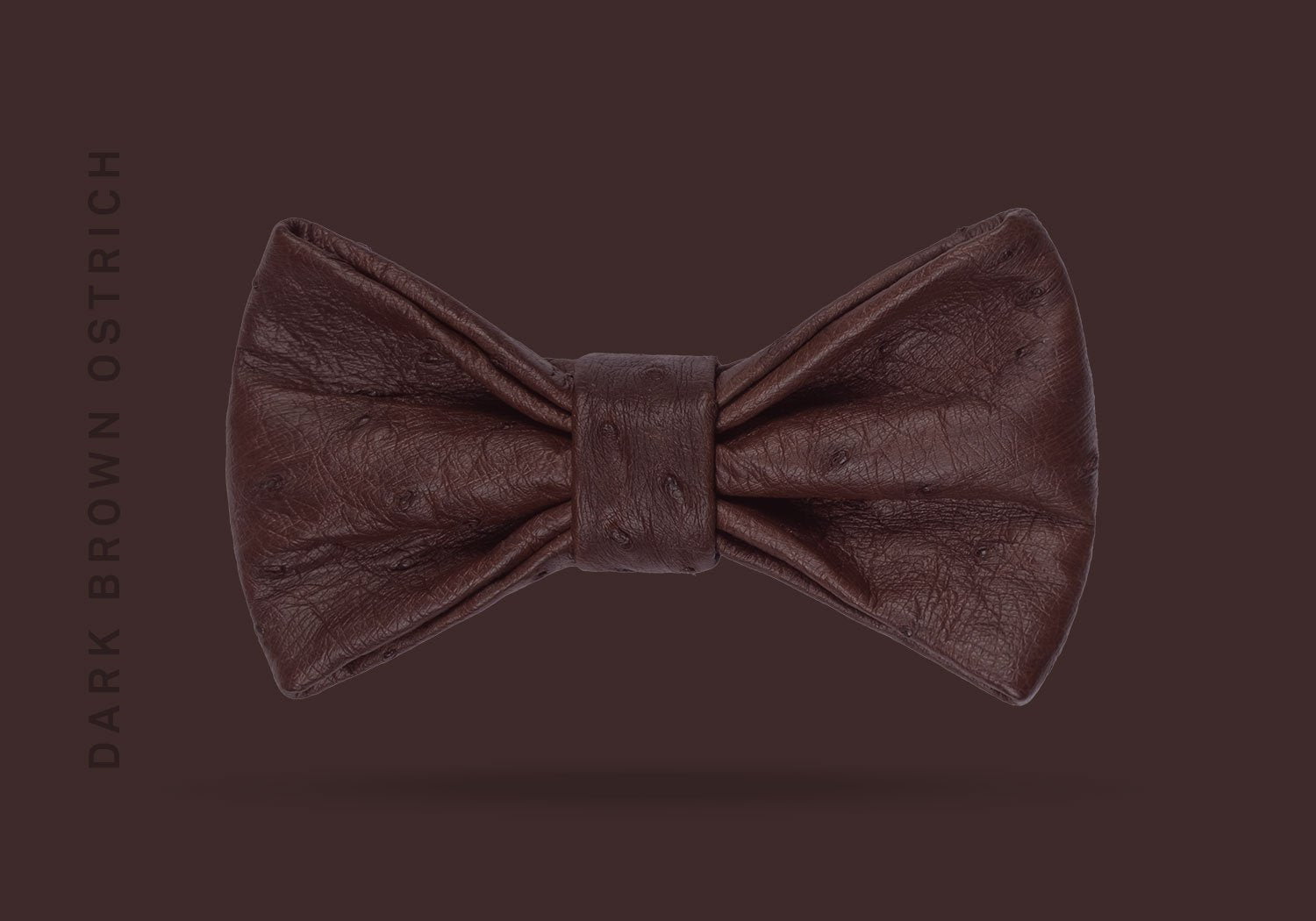 BOW TIE NO.2 – DARK BROWN OSTRICH