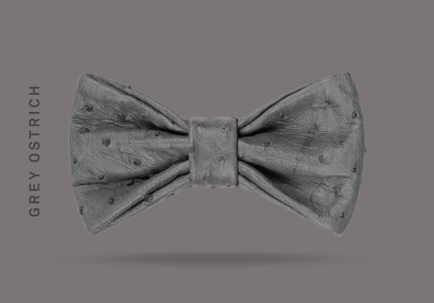 BOW TIE NO.2 – GREY OSTRICH