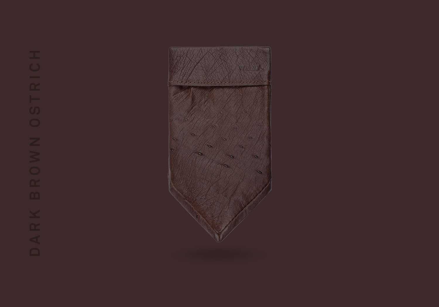 POCKET SQUARE NO.2 – DARK BROWN OSTRICH