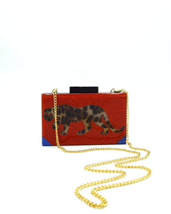 Art Deco Clutch - Cheetah