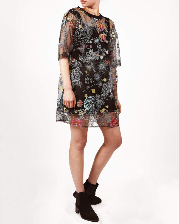 Zodiac Sheer T-shirt Dress