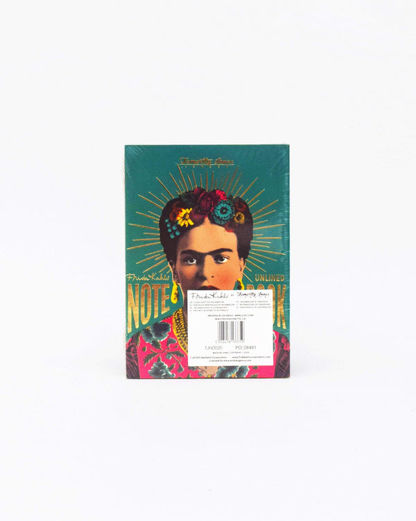 Frida Kahlo Lined Notebook Blue