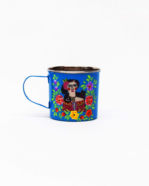 Frida Kahlo Stainless Steel Mug Blue