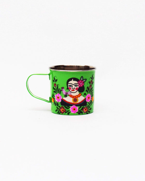 Frida Kahlo Stainless Steel Mug Green