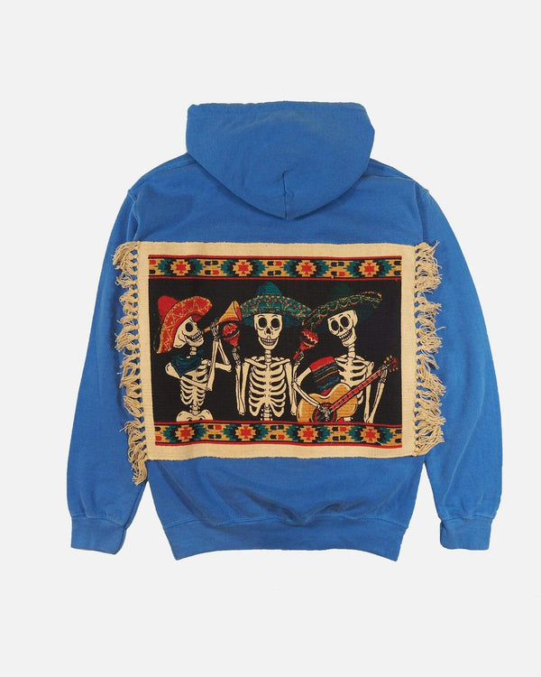 Hoodie with Mexican Back Panel