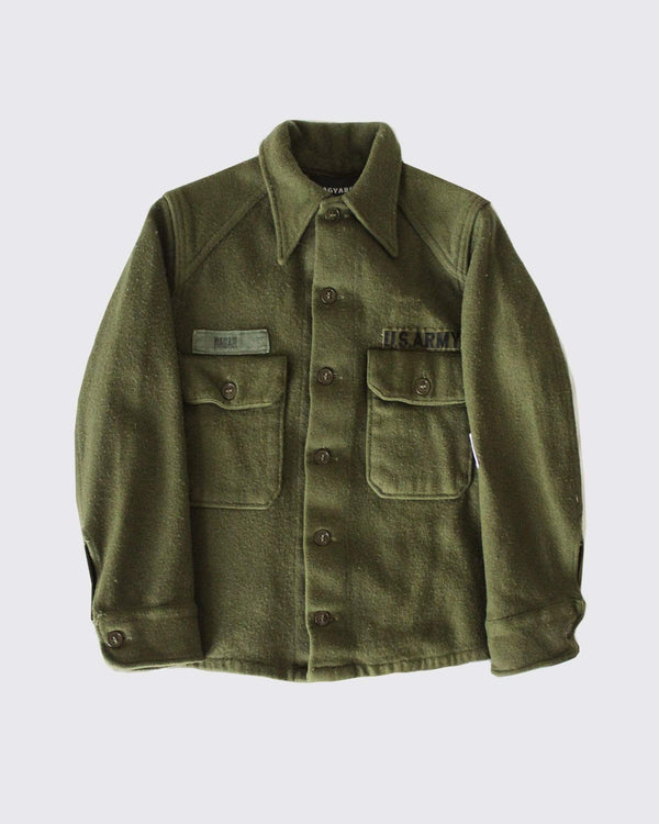 Patched Sequin Back US Army Wool Shirt