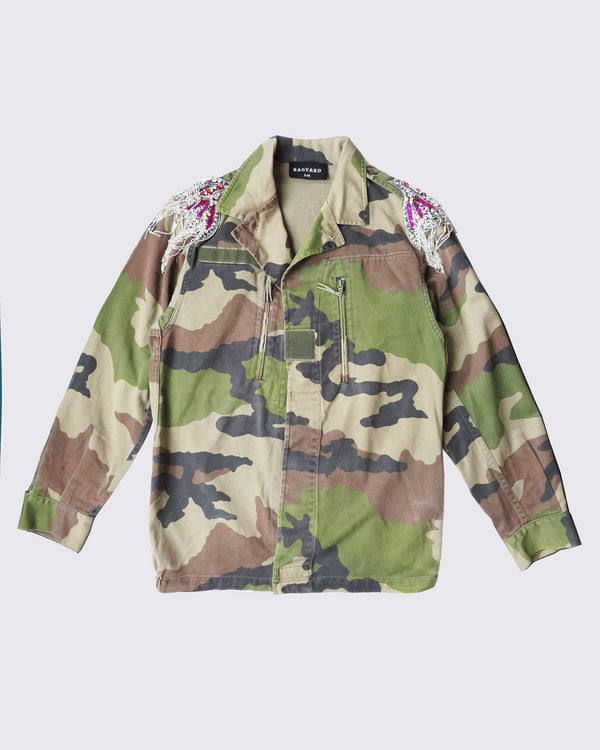 Beaded Shoulder Patch Camo F2 Jacket