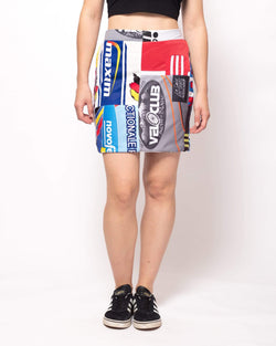 Vintage Rework Sports Patchwork Skirt
