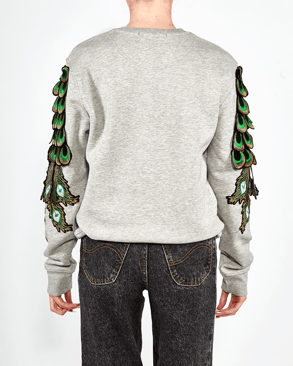 Peacock Sweat Grey