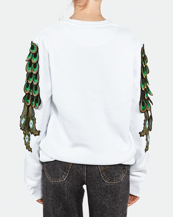 Peacock Sweat White