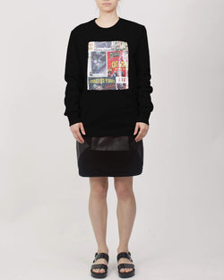 Printed Sequin Panel Sweat