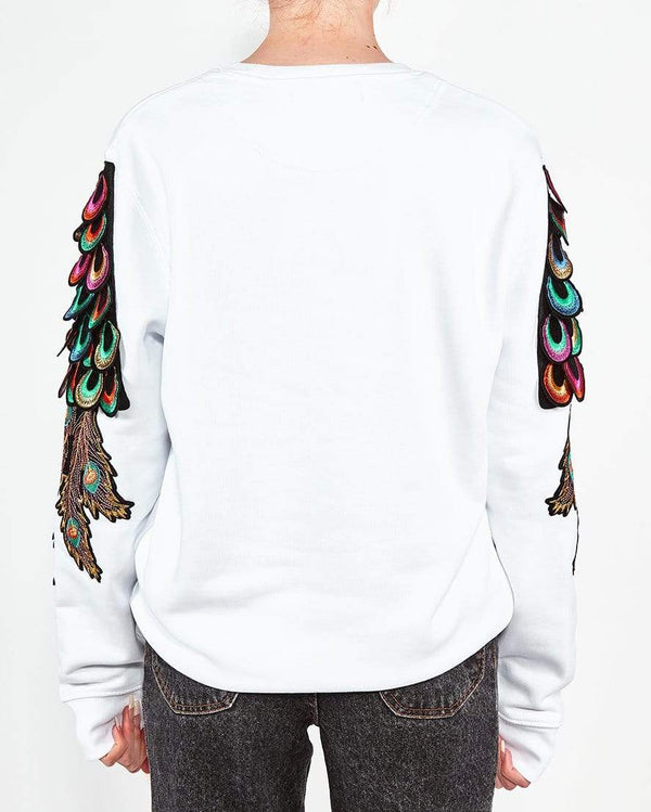 Psychedelic Peacock Sweat White