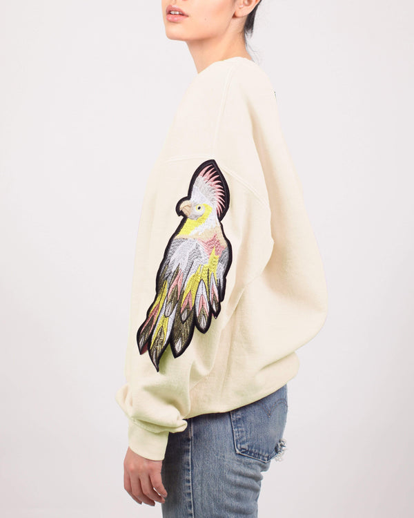 Parrot Sweatshirt Cream