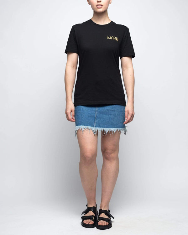 Heavy Metal Embroidered Logo T-shirt