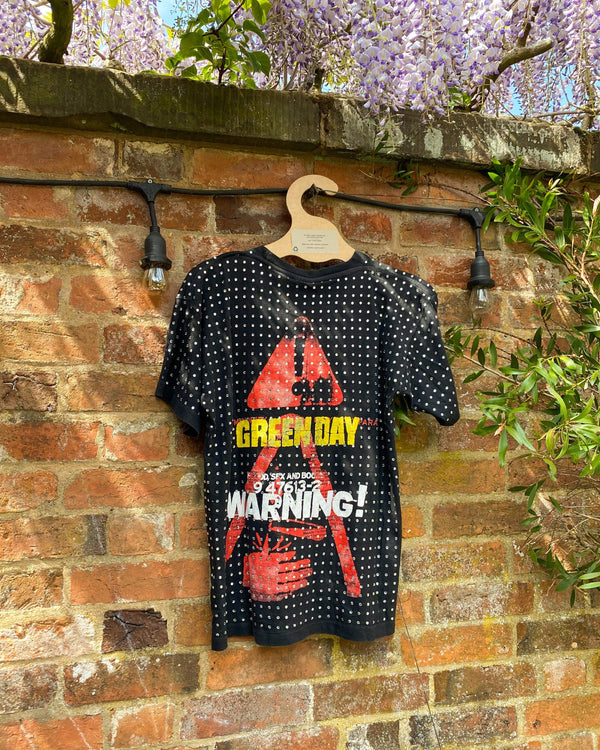 All Over Diamanté Vintage Green Day Tee