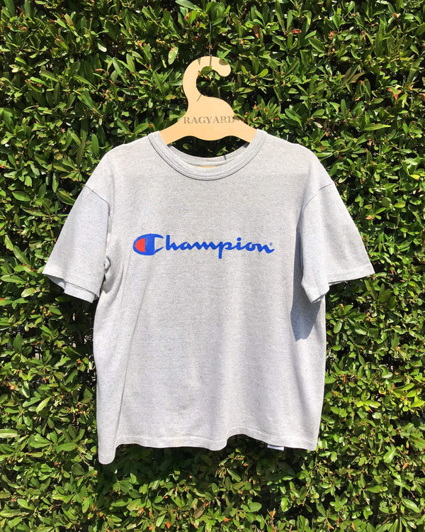 Embroidered Patch Back Vintage Champion T-shirt