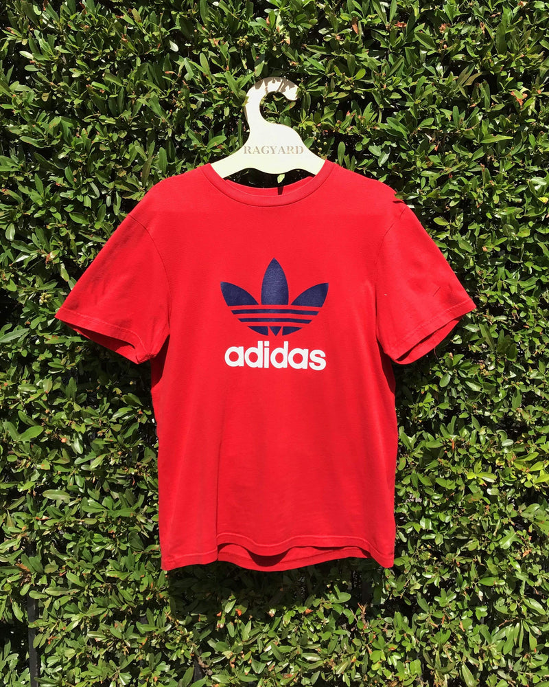 Embroidered Patch Back Vintage Adidas T-shirt