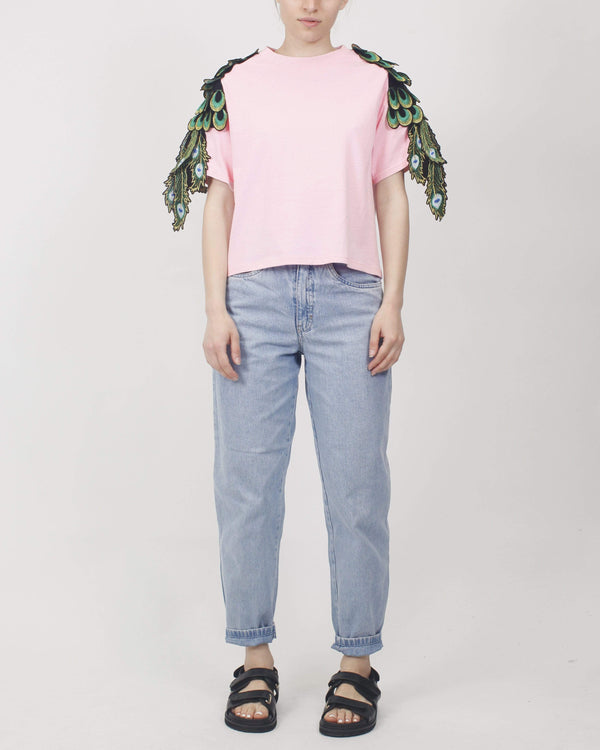 Cropped Peacock T-shirt