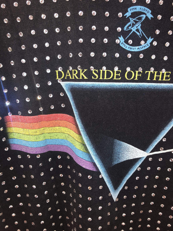 One of a Kind All over Diamanté Vintage Pink Floyd T-shirt
