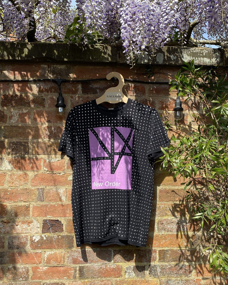 Vintage New Order Logo T-shirt with all over Diamanté