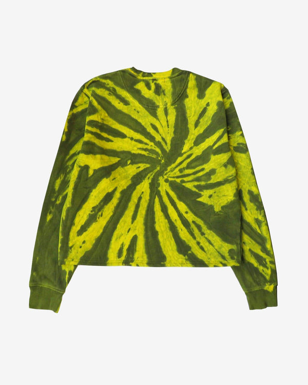 Macrame Patched Cropped Tie Dye Sweatshirt