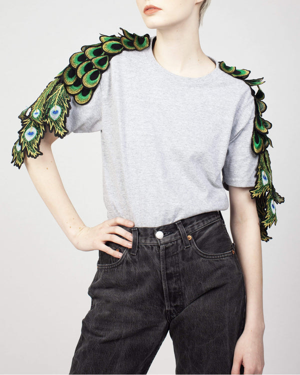 Peacock Sleeve T-shirt