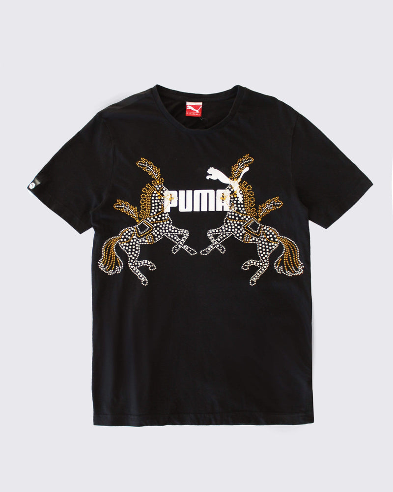 Vintage Sportswear T'shirt with Horse Diamante