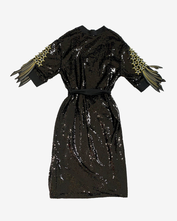 Star Sleeve Sequin Robe