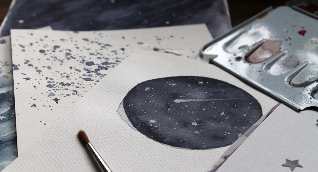 Painting the night sky - 'From the sketchbook' vlog