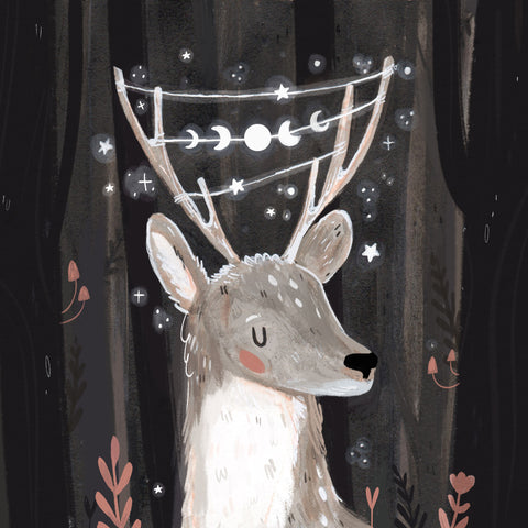Deer illustration by Raahat Kaduji