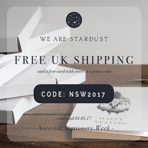 National Stationery Week Free Shipping Offer