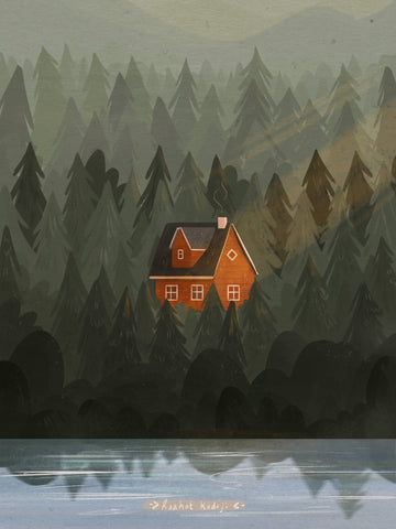Norway red house by Raahat Kaduji