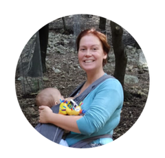 Sarah-Louise and her baby on the Rooted Adventure