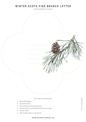 Scots pine branch template