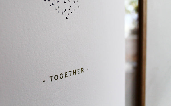 "Small A5 Limited Edition Starling Murmuration ""Together"" print"