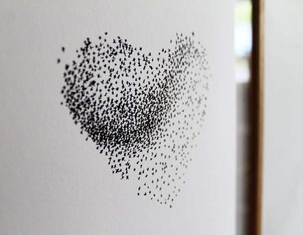 "Large A4 Limited Edition Starling Murmuration ""Together"" print"