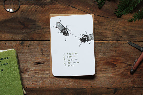 Bess beetle relationships greetings card
