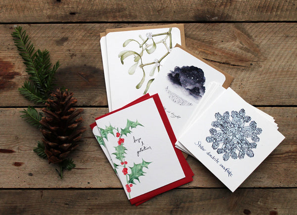 Seconds Christmas cards bundle of 10