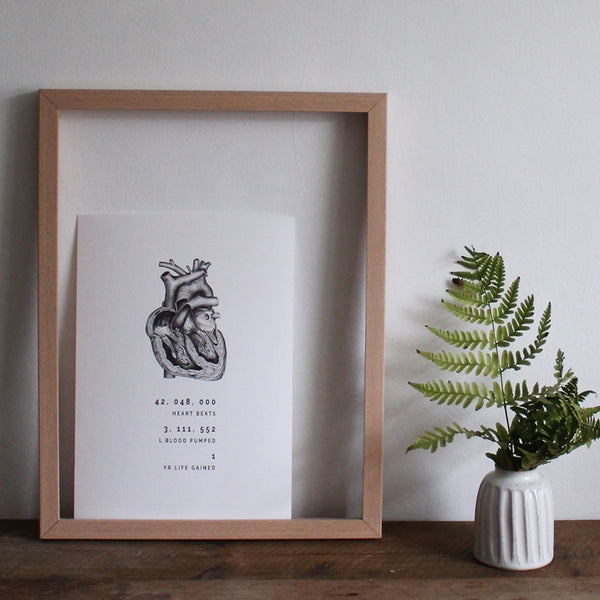 Anatomical heart limited edition giclée print