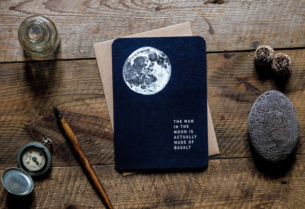 Man in the moon greetings card