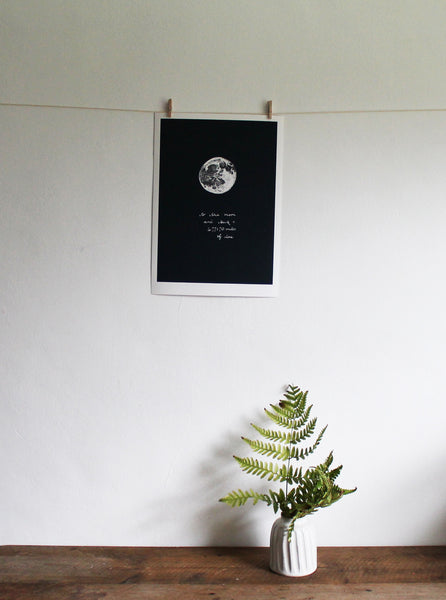 I love you to the Moon and Back limited edition giclée print