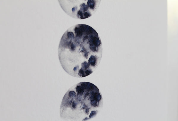 Large 'Life is full of phases' Moon print