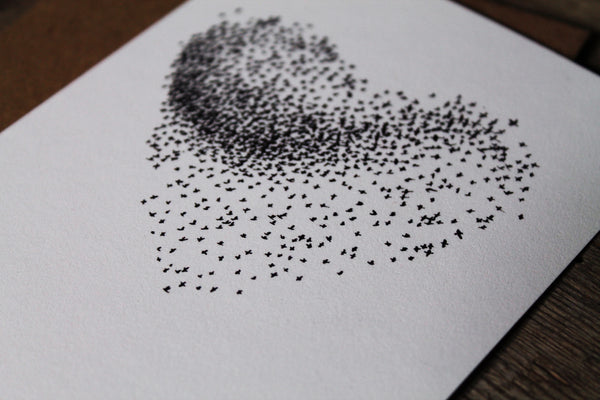 "Starling murmuration ""Together"" greetings card"