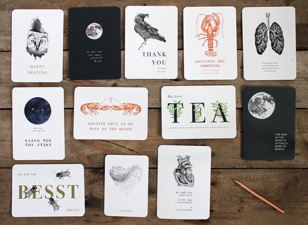 Cabinet of curiosities - A year of We Are Stardust cards