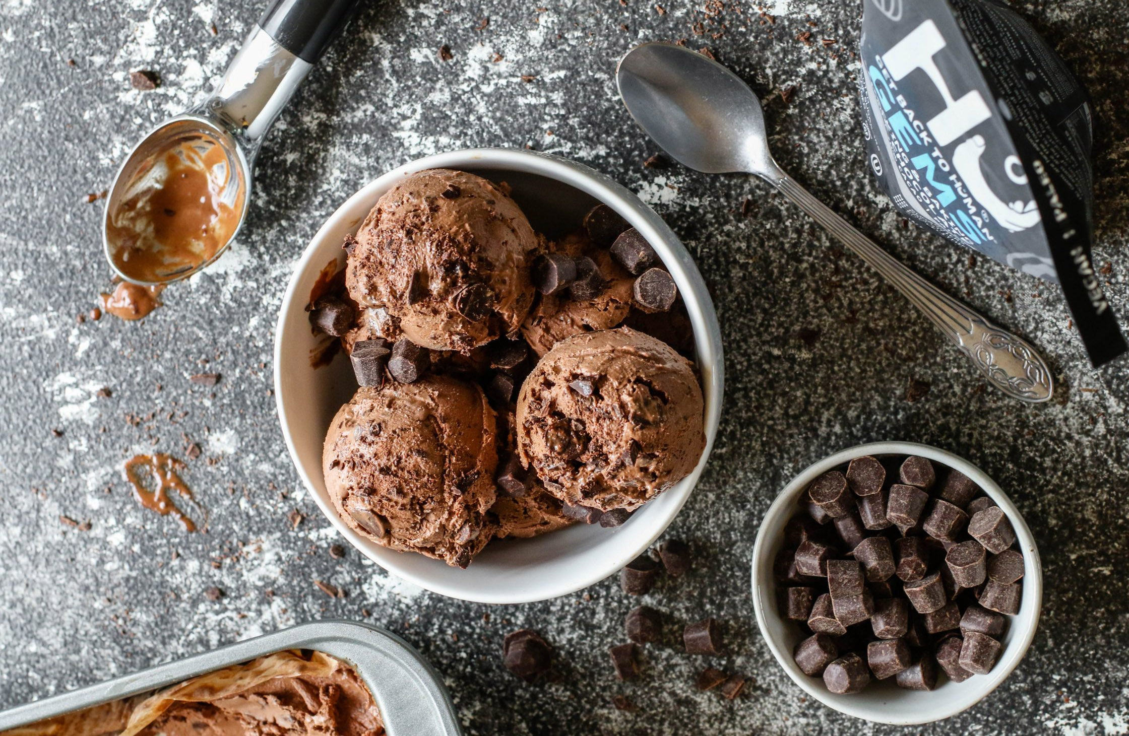 NO-CHURN HU DARK CHOCOLATE ICE CREAM