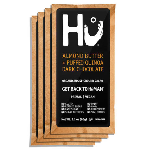 Almond Butter + Puffed Quinoa Chocolate Bar Hu Kitchen