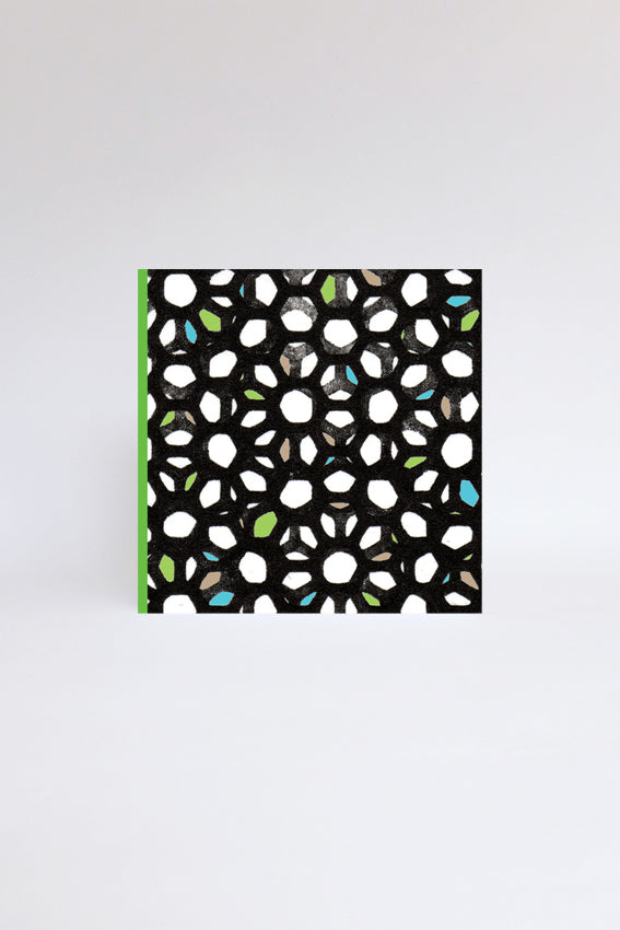 Green, black, pattern, geometric, greetings card