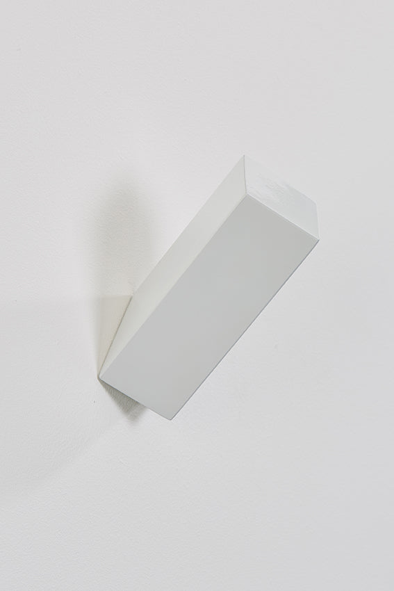 Metal hook and coat hook, rectangular shape, white colour