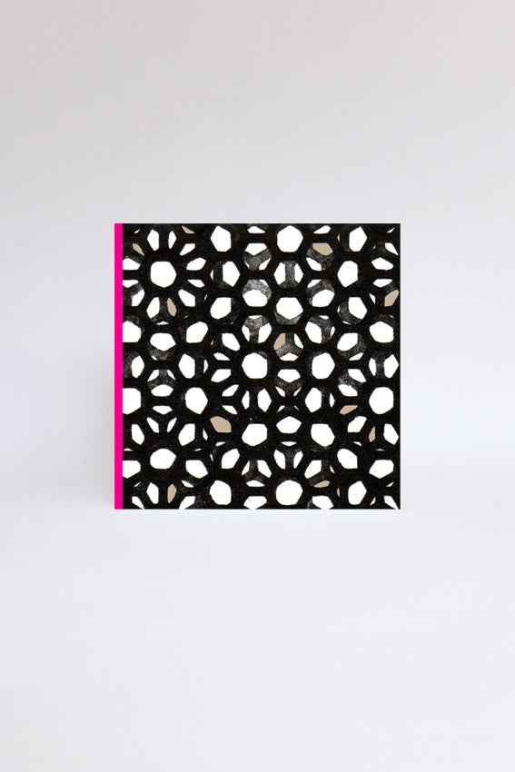 Pink, black, pattern, geometric, greetings card
